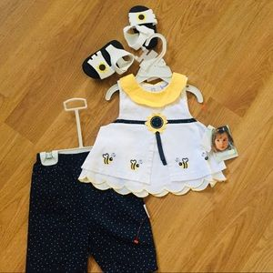 Vitamins Infant Girl three piece outfit